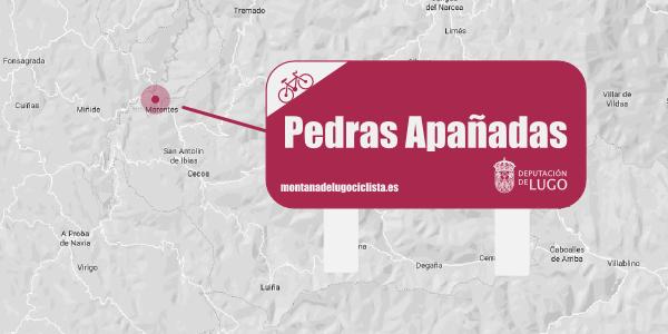 Localización señalética Pedras Apañadas.