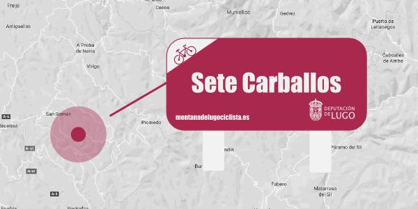 Localización señalética Sete Carballos.