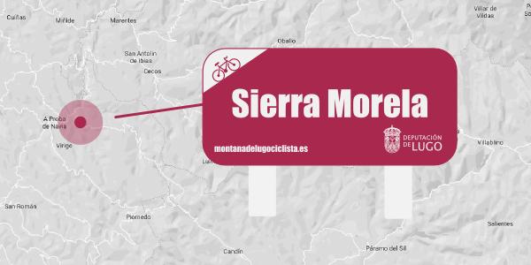 Localización señalética Sierra Morela.